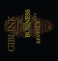 giblink revenue opportunities exposed text vector image