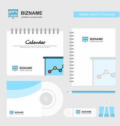 graph chart logo calendar template cd cover diary vector image
