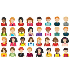 Group of people without faces vector image
