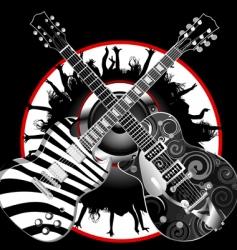 guitar legends vector image