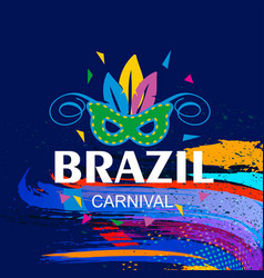 happy brazilian carnival day creative typography vector image