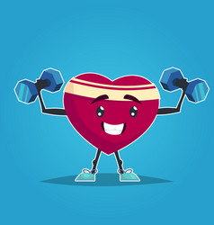 healthy heart healthy lifestyle smile shape of a vector image