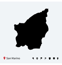 High detailed map of San Marino with navigation vector image