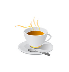 hot coffe isolated on white background vector image