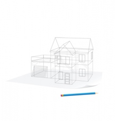 house sketch vector image