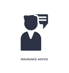 Insurance advice icon on white background simple vector