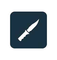 knife icon Rounded squares button vector image