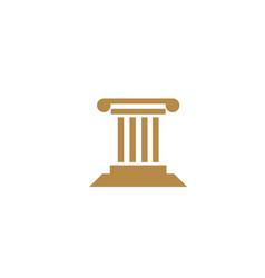law building justice for logo design vector image