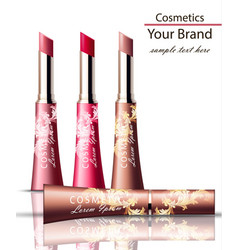 lip stick cosmetics packaging mock up vector image