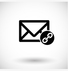 Mail connection flat icon vector