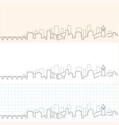 Minneapolis hand drawn skyline vector
