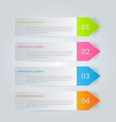 Modern inforgraphics template for banners website vector image