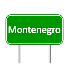 Montenegro road sign vector