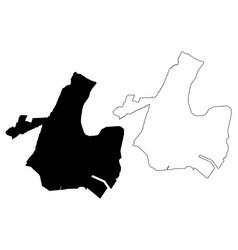 Newark city map vector