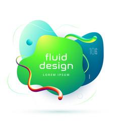 organic design of liquid color abstract geometric vector image