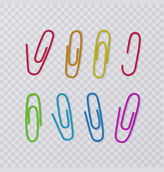 paper clips isolated on transparent background vector image
