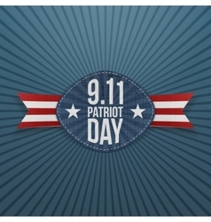 Patriot Day 9-11 Badge with Ribbon vector