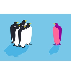 Penguins Animal from another pack Unusual bird vector