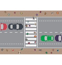 People on crosswalk vector