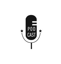 podcast radio microphone concept webinar vector image