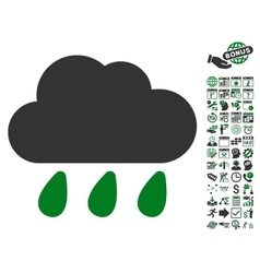 Rain Cloud Icon With Bonus vector