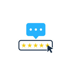 Rate testimonial logo icon design vector