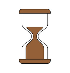Sand glass timer icon vector