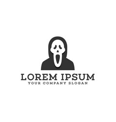 scream mask logo design concept template vector image