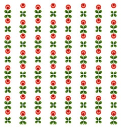 Seamless floral pattern with abstract flowers vector