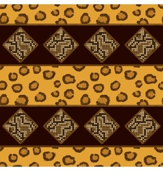 Seamless pattern with leopard skin vector image