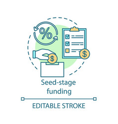 Seed-stage funding concept icon vector