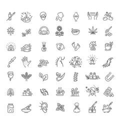 Set different kinds alternative medicine vector