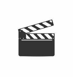 simple clapper board with mounting isolated vector image