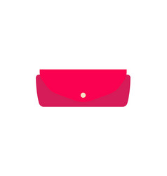 Small female leather purse with convenient clasp vector