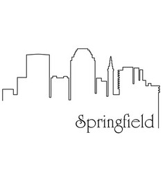 springfield city one line drawing vector image