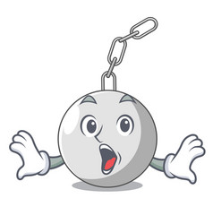 Surprised wrecking ball isolated on a mascot vector
