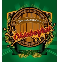 Template for retro poster to Octoberfest vector image