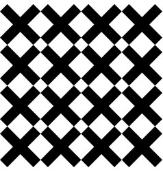 tile black and white x cross pattern for seamless vector image