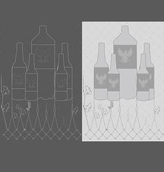 vintage beer bottle vector image