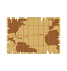 vintage map icon vector image