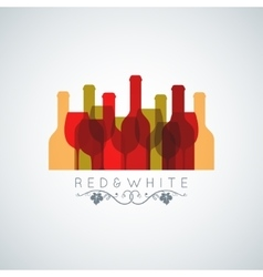 wine glass and bottle abstract background vector image vector image