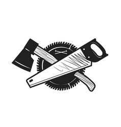 Woodwork joinery carpentry logo or icon vector