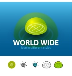 World wide icon in different style vector image