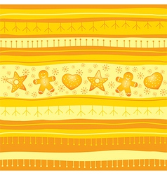 Yellow Christmas seamless background vector image