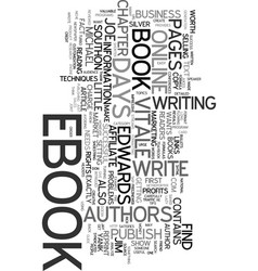 your own ebook in days text word cloud concept vector image