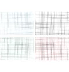 Hand drawn lines background set vector image vector image