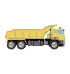 tipper construction industry vehicle vector image