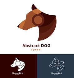 Abstract Dog vector image vector image