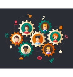 abstract people business composition vector image vector image