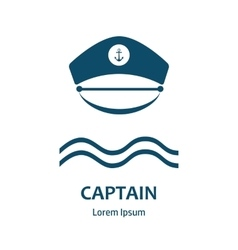 Captain hat flat icon vector image vector image